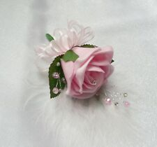 Wedding Flower Buttonhole Pink rose.... PIN ON