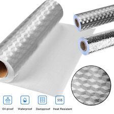 Kitchen Oil-Proof Foil Wall Stickers Waterproof Self Adhesive Aluminum Kitchen