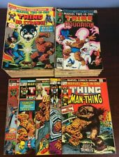 MARVEL TWO IN ONE #1 THRU 100 --LOT OF 97 COPIES -THE THING- 1974 HIGH GRADE