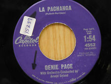 Genie Pace 45 La Pachanga / Somebody Else Is Taking My Place ~ Capitol VG+
