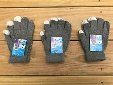 Wholesale Lot of 3 Gloves Touchscreen Outdoor Winter Acrylic Gloves Size Fit All