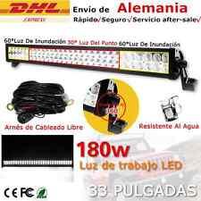 """32"""" 180W LED barra de luz trabajo Spot Flood Combo FOCO 4x4 4wd Light Bar camión"""