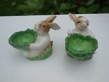 Classic Set of  Easter Bunny Rabbit Condiment Servers Perfect for Holidays