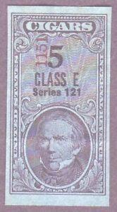 Series 121 (1951) 5 Class E  tax paid revenue stamp, black [tp24