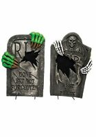 """Light Up Skeleton Claw 22"""" Tombstone"""