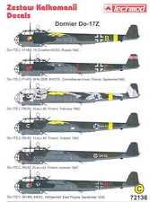 Techmod Decals 1/72 DORNIER Do-17Z German Bomber w/Masks