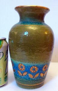 MCM Aldo Londi  BITOSSI ITALY Art Pottery VASE Rimini Blue Rosenthal Netter
