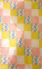 Handmade Unicorn Patchwork Quilt Baby Girl Pink Yellow Cotbed