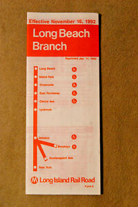Long Island Railroad - Long Beach Branch - Nov 16, 1992