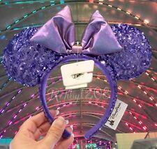 Disney Parks Disneyland Purple Potion Purple Sequins Minnie Ears Headband Bnwt