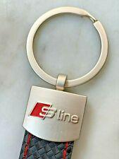 Portachiavi Audi Sline + pelle Auto Sport A1 3 4 6 8 Q3 5 7 S LINE - QUATTRO