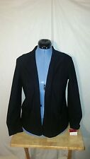 NWT Womens Sunny Leigh Black Open Front Jacket Small S