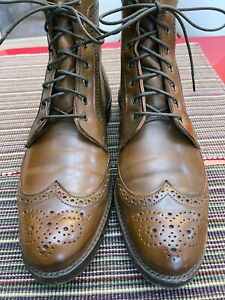 Allen Edmonds Dalton Boots, Whiskey (Cigar) Shell Cordovan 9.5B mint