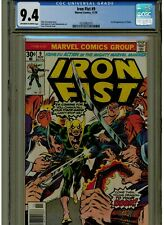 IRON FIST #9 CGC 9.4 NEAR MINT OWTW PAGES 1976 1ST APPEARANCE OF CHAKA BLUE