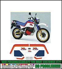 kit adesivi stickers compatibili xl 600 lm motore rosso 1987