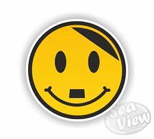 Happy Hitler smiley face Voiture Autocollants Decal Sticker Drôle Jdm Euro Dub VW Van