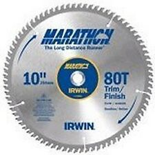 "NEW IRWIN 14076 MARATHON 10"" X 80 TPI TRIM FINISH CARBIDE CIRCULAR SAW BLADE"