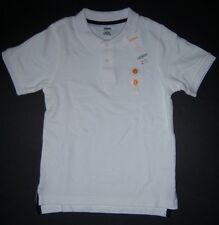 NWT Gymboree Boys White Short Sleeve Uniform Polo Shirt Size 7
