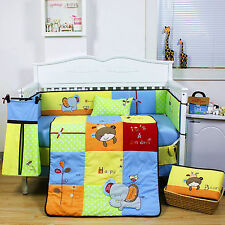 9 Pieces Beautiful Animal Design Baby Boy's Crib Cot Bedding Quilt Set KLF417