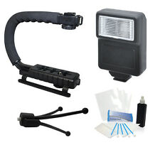 Camera Flash Grip Stabilizer Handle Accessories for Pentax K100D Camera