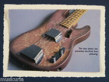 ao~ handmade greetings / birthday card PAISLEY TELECASTER BASS