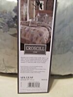 CROSCILL - GREEN - SPA LEAF DESIGN - KING SIZE DUST RUFFLE - NEW IN PKG