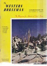 THE WESTERN HORSEMAN - NOVEMBER-DECEMBER 1948
