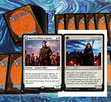mtg WHITE HUMANS DECK Magic the Gathering rare cards hanweir militia captain