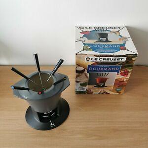 Le Creuset Gourmand (Top Table Cast Iron Fondue Set) - Graphite Colourway - VGC