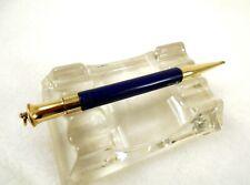 Vintage MOORE PEN Mechanical Pencil ~ Patent 1925 ~ Navy Blue & Gold ~ No Dings!