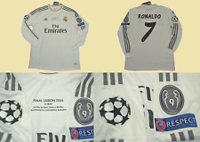 real madrid 2013 2014 shirt jersey champions league final ronaldo cristiano cr7
