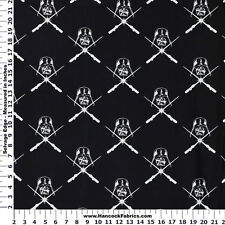 STAR WARS DARTH VADER GLOW IN THE DARK 100% COTTON FABRIC BY THE 1/2 YARD