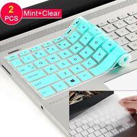"[2 Pack] Keyboard Cover Skin for 15.6"" HP Pavilion x360 15-BR075NR,Envy X360 ..."