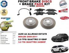 para AUDI A4 Allroad Familiar Discos freno Delantero Set + pastillas kit +