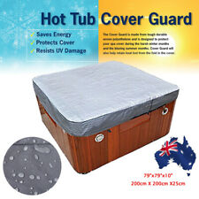 AU Oxford Fabric Spa Cover Cap Hot Tub Waterproof Protector Various Sizes Silver