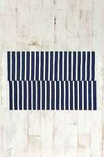 Urban Outfitters Offset Stripe 2x3 Rug - Navy Blue/White - Brand New