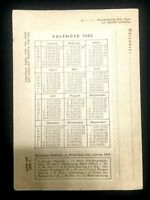 Authentic German 1943 - Uncirculated Letter Post Card with 1943 Calendar - Rare