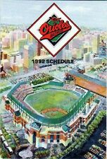 1992 BALTIMORE ORIOLES POCKET SCHEDULE-CAMDEN YARD ON FRONT-COCA-COLA ON BACK
