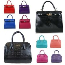 Unbranded Croc Print Faux Leather Outer Handbags