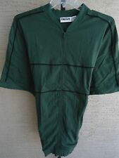 New  KING SIZE 3XL  ZIP FRONT BANDED BOTTOM COTTON JERSEY KNIT S/S SHIRT