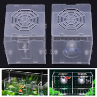 Clear Plastic Fish Tank Aquarium Hatchery Small Box Breeding Nursery Isolation