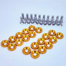 20X Gold JDM BILLET ALUMINUM FENDER/BUMPER WASHER/BOLT ENGINE BAY DRESS UP KIT