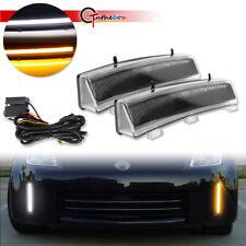 370Z Style Switchback LED Daytime DRL/Turn Signal Lights For 06-09 Nissan 350Z