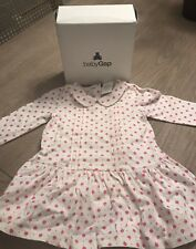 New Baby Gap Girl Dress 12-16 Month Pink White Adorable