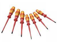 Wera Screwdriver Extra Slim Insulated Electrician Hand Tool 1000V VDE Set 7 Pc