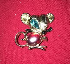 and turquoise stone Mouse Pin with red