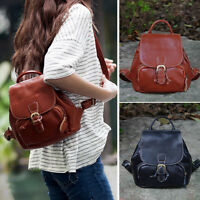 Women's Small Mini Genuine Leather Backpack Rucksack Daypack Purse Cute bag