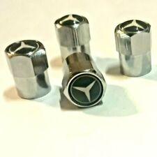 Set aus 4 Ventilkappen Mercedes Benz - Metall - Chrom - Performance - Silber -