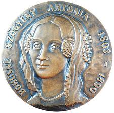 Hungary BOHUSNE SZOGYENY ANTONIA medallion 109mm