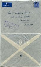 BMA SOMALIA FORCES MAIL Cachet .. OVERPRINT 2 1/2d SOLO ..AIRMAIL to KENYA 1948